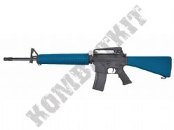 CM009 M16 A3 AEG Electric Airsoft Rifle BB Machine Gun Metal Body and Gear Box 2 Tone Blue